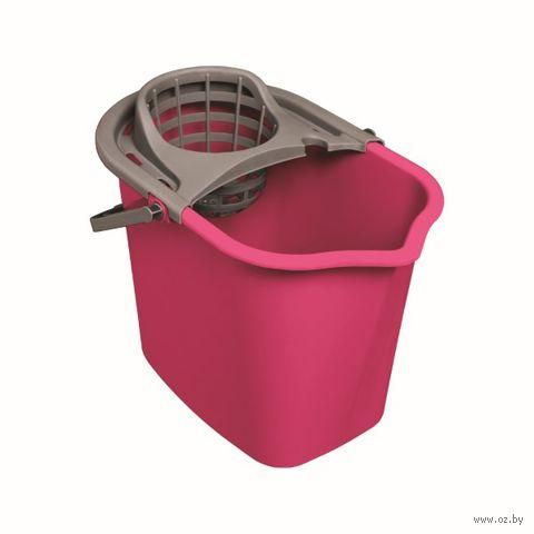 Ведро для мытья полов с отжимной решеткой (10 л) — фото, картинка