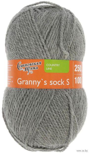 "Пряжа ""Семеновская. Granny`s sock S №380"" (100 г; 250 м; серый) — фото, картинка"