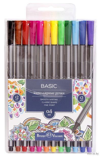 """Набор ручек капиллярных """"Basic"""" (12 цветов) — фото, картинка"""