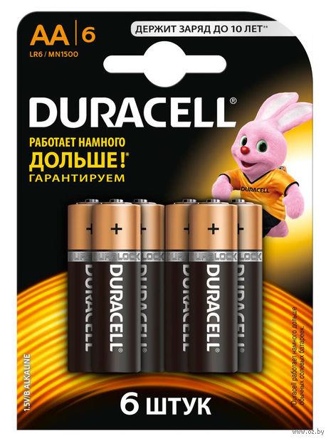 Батарейка DURACELL AA LR6 MN1500 Alkaline (6 штук)