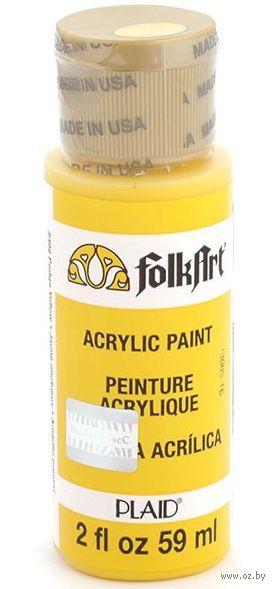 """Краска акриловая """"FolkArt. Acrylic Paint"""" (желтый декупаж, 59 мл; арт. PLD-02392)"""