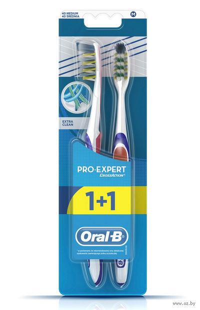 """Зубная щетка """"ProExpert. ЭкстраЧистка"""" (средняя, 2 шт.) — фото, картинка"""
