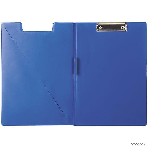 Папка-планшет А4 с зажимом (синяя)