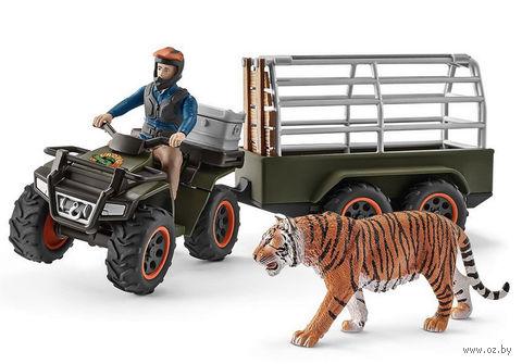 "Набор фигурок ""Квадроцикл с прицепом для перевозки животных"" — фото, картинка"