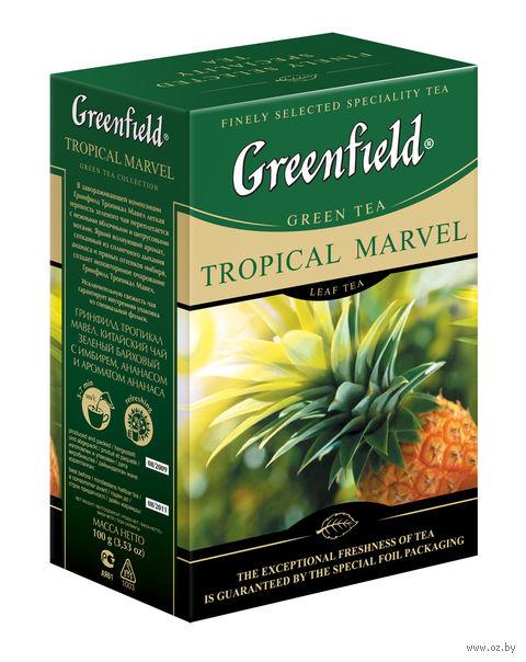 """Чай зеленый листовой """"Greenfield. Tropical Marvel"""" (100 г) — фото, картинка"""