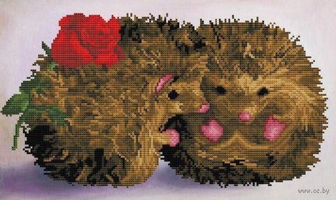"""Алмазная вышивка-мозаика """"Влюбленные ежи"""" (300х500 мм) — фото, картинка"""