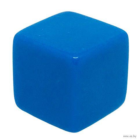 """Кубик D6 """"Пустой"""" (16 мм; синий; арт. 2527-3) — фото, картинка"""