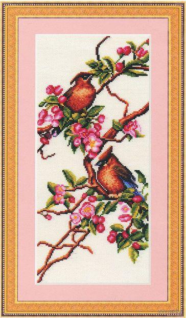 """Вышивка крестом """"Яблоня в цвету"""""""