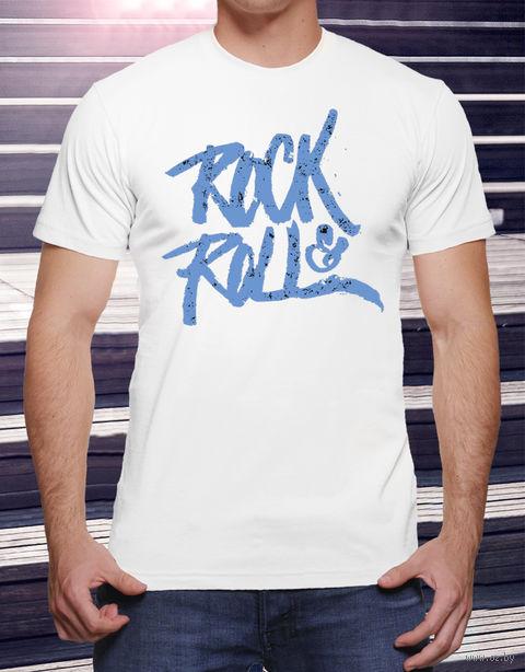 "Футболка мужская ""Rock and Roll"" (размер 52; art. 19)"
