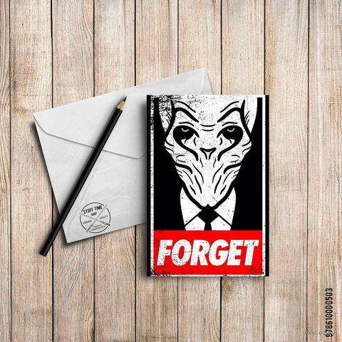 "Открытка ""Forget"" (503)"