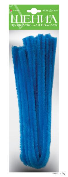 Проволока пушистая №5 (10 шт.; ярко-голубая) — фото, картинка