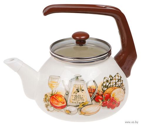 """Чайник стальной эмалированный """"Традиция"""" (2,2 л) — фото, картинка"""