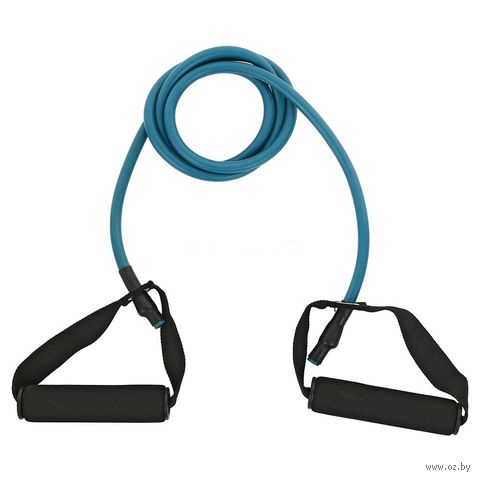 Эспандер трубчатый с ручками (синий) — фото, картинка