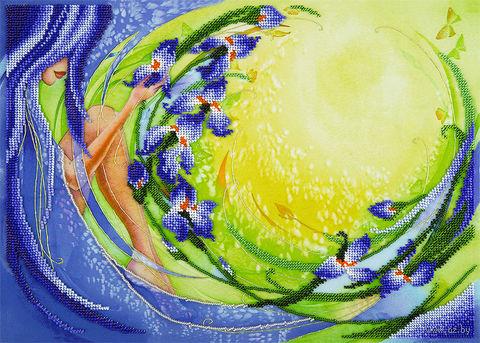 """Вышивка бисером """"Ирисовый рассвет"""" (360х260 мм) — фото, картинка"""