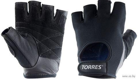 Перчатки для фитнеса (М; чёрные; арт. PL6047М) — фото, картинка