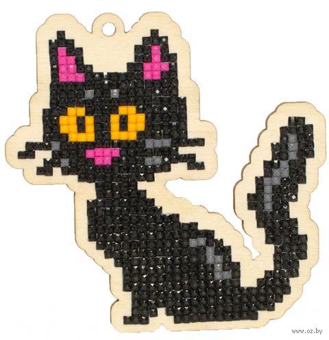 """Алмазная вышивка-мозаика """"Брелок. Черная кошка"""" (96х95 мм) — фото, картинка"""