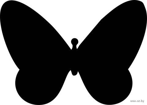 "Магнитно-грифельная доска на холодильник ""Бабочка"" — фото, картинка"