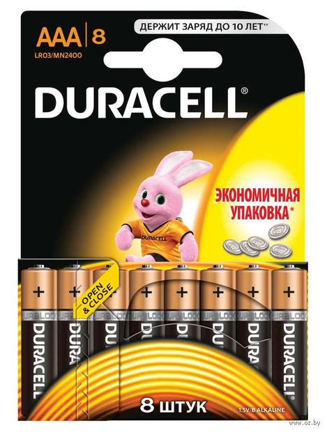 Батарейка DURACELL AAA LR03 MN1500 Alkaline (8 штук)