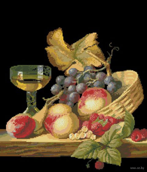 """Вышивка крестом """"Натюрморт с фруктами"""""""