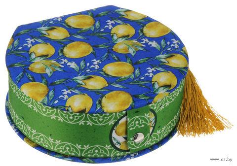 """Шкатулка декоративная """"Лимоны"""" (17х16х5 см; арт. 40947) — фото, картинка"""