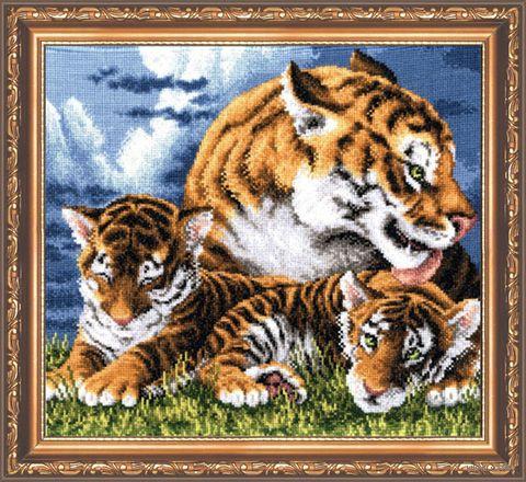 "Вышивка крестом ""Тигрята"" (290х270 мм) — фото, картинка"