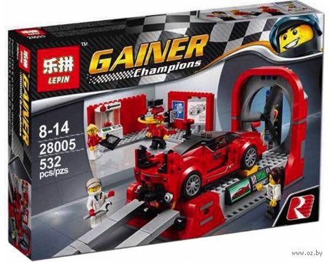 """Конструктор Gainer Champions """"Ferrari FXX K и Центр Разработки"""" — фото, картинка"""