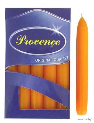 Набор свечей декоративных (10 шт.; оранжевые)