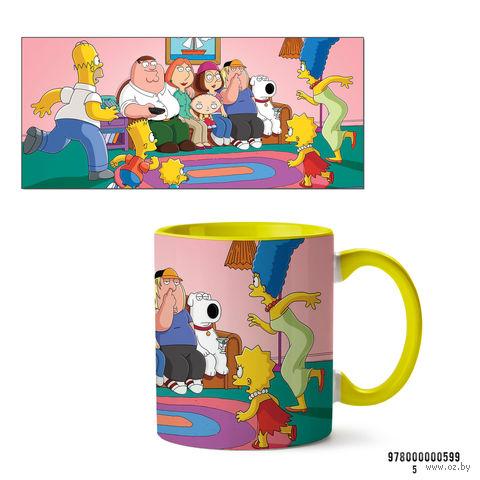 """Кружка """"Симпсоны"""" (599, желтая)"""