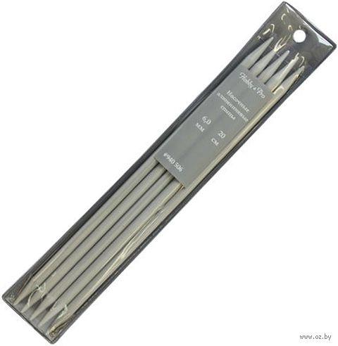 Спицы чулочные для вязания (алюминий; 6 мм; 20 см) — фото, картинка