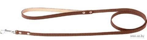 Поводок из натуральной кожи (1,22 м; коричневый; арт. 04736) — фото, картинка