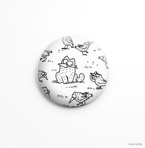 "Значок маленький ""Кот Саймона"" (арт. 561) — фото, картинка"