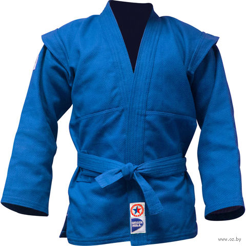 Куртка для самбо JS-303 (р. 3/160; синяя) — фото, картинка