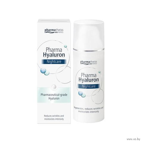 "Ночной крем для лица ""Pharma Hyaluron"" (50 мл) — фото, картинка"