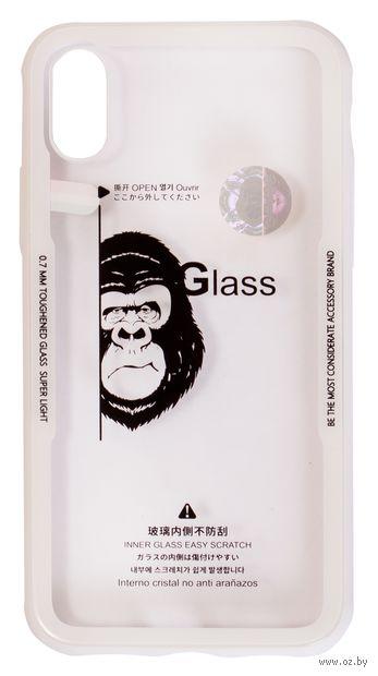 Чехол Biggo для iPhone X (белый) — фото, картинка