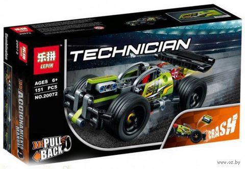 """Конструктор Technician """"Зелёный гоночный автомобиль"""" — фото, картинка"""
