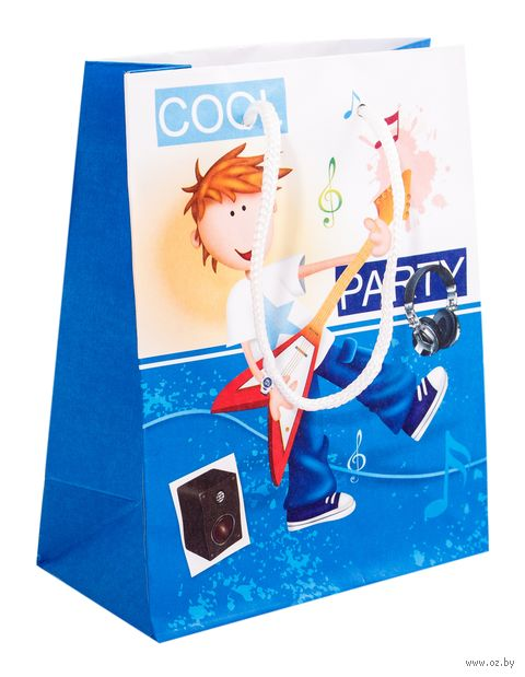 """Пакет бумажный подарочный """"Мальчик"""" (15х12х6 см) — фото, картинка"""