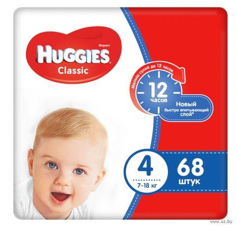 "Подгузники ""Huggies. Classic Mega 4"" (7-18 кг; 68 шт.) — фото, картинка"