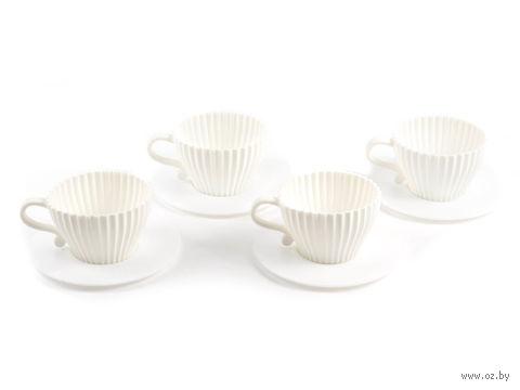 """Форма силиконовая для выпекания кексов """"Чайная пара"""" (8 предметов; 75х50 мм)"""