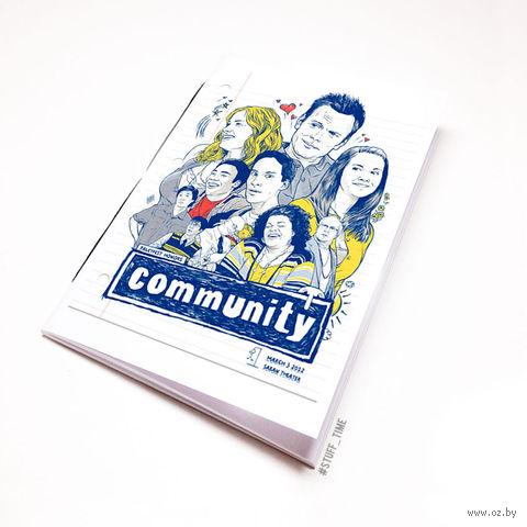 "Блокнот белый ""Community"" А6 (129)"