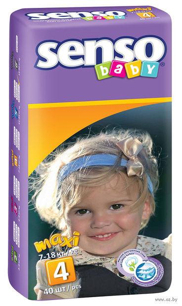 "Подгузники ""Senso baby. Maxi"" (7-18 кг; 40 шт.) — фото, картинка"
