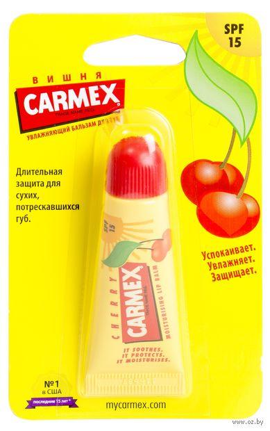 """Бальзам для губ """"Carmex Lip Balm Cherry"""", тон: прозрачный — фото, картинка"""