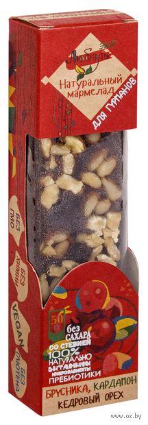 """Мармелад """"Брусника, кедровый орех и кардамон"""" (50 г) — фото, картинка"""