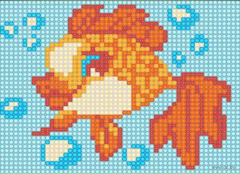 """Алмазная вышивка-мозаика """"Золотая рыбка"""" (150х120 мм) — фото, картинка"""