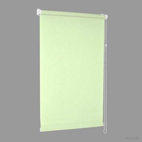 "Штора рулонная ""Сантайм. Лён"" (48х170 см; салатовая) — фото, картинка"