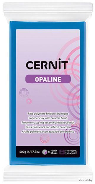 """Глина полимерная """"CERNIT Opaline"""" (синий; 500 г) — фото, картинка"""