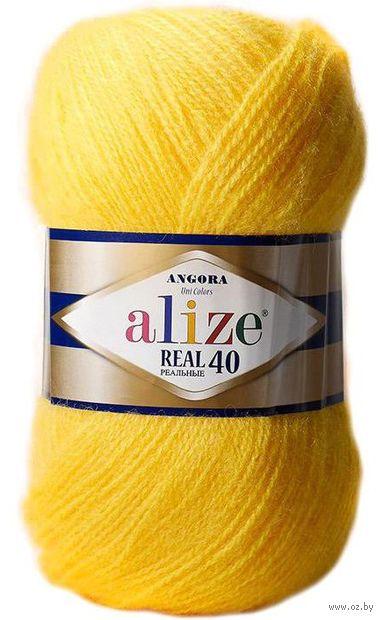"Пряжа ""ALIZE. Angora Real 40 №219"" (100 г; 480 м; лимонный) — фото, картинка"