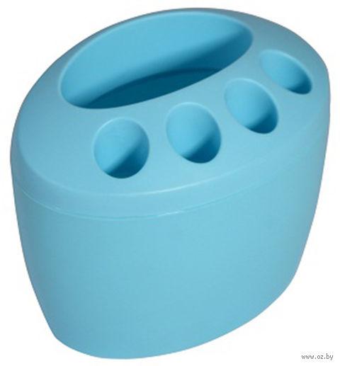 """Подставка для зубных щеток пластмассовая """"Камея"""" (100х150х120 мм)"""