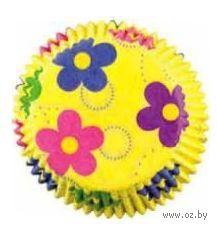 """Набор форм для выпекания кексов бумажных """"Танцующие цветы"""" (50 шт.)"""