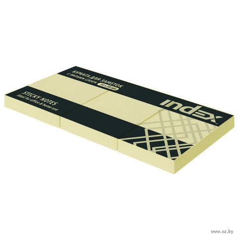Стикеры (51х38 мм; 100 листов; желтые) — фото, картинка