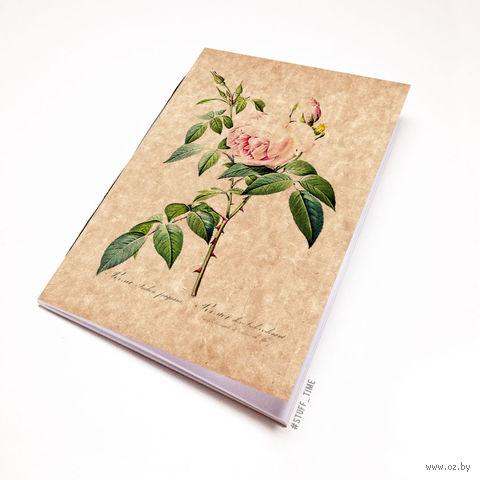 """Блокнот крафт """"Роза"""" (А7; арт. 726) — фото, картинка"""